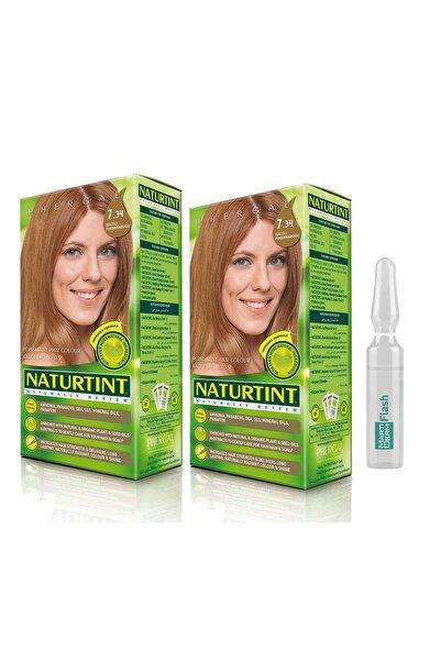 NATURTINT 2li Set7.34 Işıltılı Fındık Kabuğukalıcı Saç Boyası