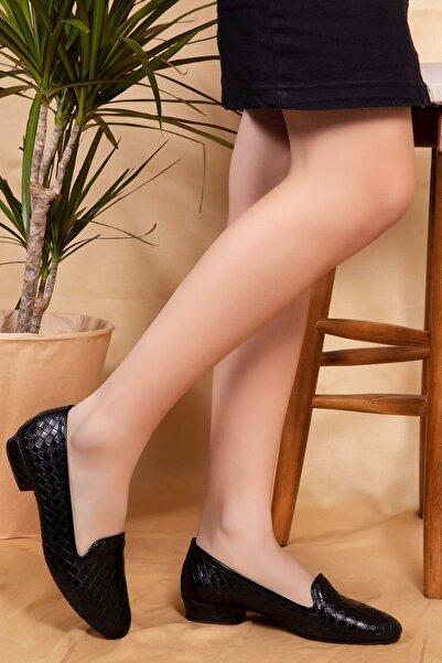 Gondol Kadın Siyah Ev Ayakkabısı