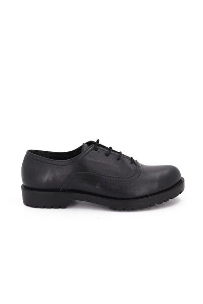 Hobby Siyah Deri Günlük Kadın Ayakkabı 1237