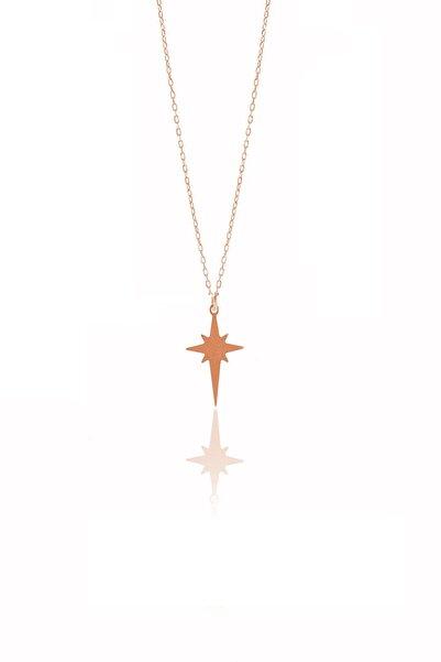 Söğütlü Silver Kadın Gümüş Kutup Yıldızı Modeli Kolye SGTL9711ROSE