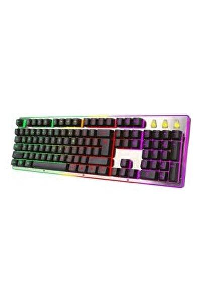 Tr-k5 Işıklı Metal Kasa Usb Kablolu Mekanik Gaming Klavye
