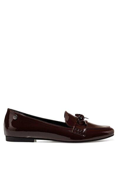 Nine West Kunet Bordo Kadın Loafer Ayakkabı