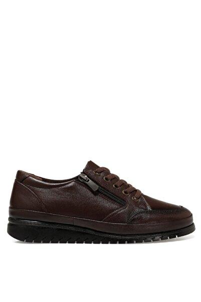 İnci Came Kahverengi Kadın Comfort Ayakkabı