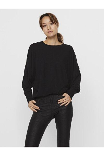 Vero Moda Kadın Siyah Uzun Kollu Üst Örme Kazak 10237425 Vmbella