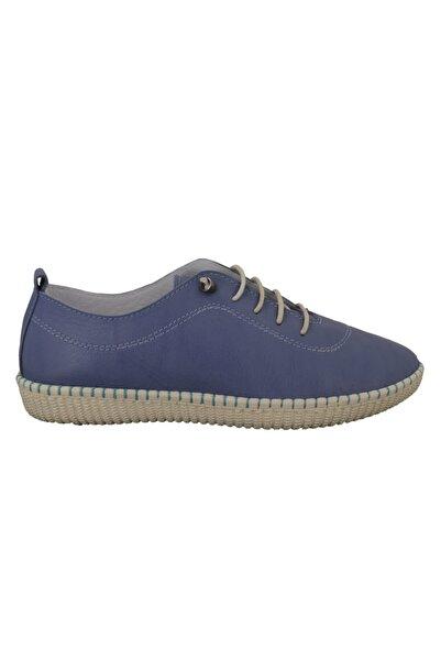 Hobby Mavi Deri Kadın Ayakkabı Fb111