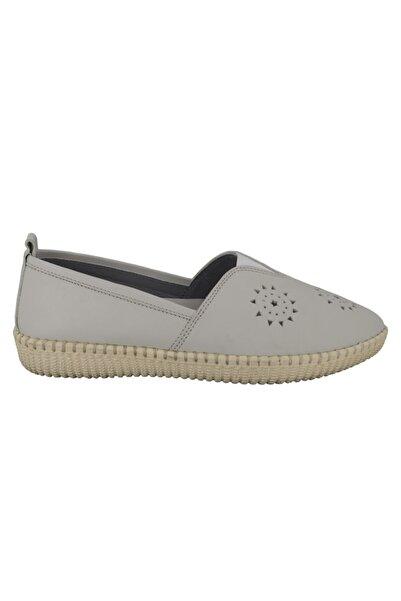 Hobby Bej Deri Kadın Ayakkabı Fb118