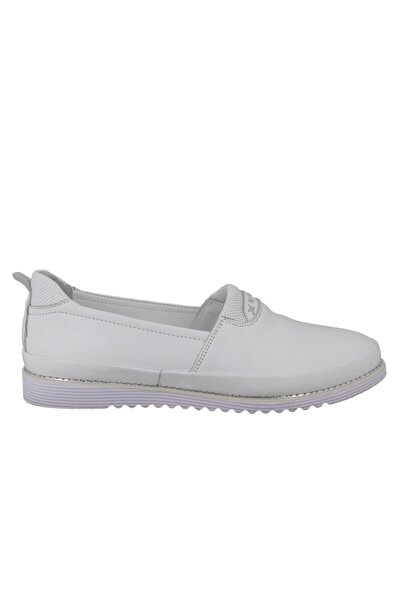 Hobby Divadonna Beyaz Deri Günlük Kadın Ayakkabı 8672