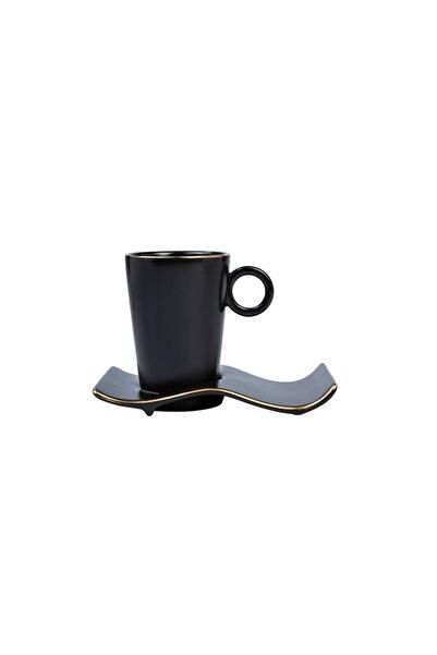 Karaca Volna Siyah 6 Kişilik Kahve Fincanı Takımı