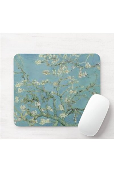 SEÇ Baskı Tasarım Van Gogh Çiçek Açan Badem Ağacı Mouse Pad