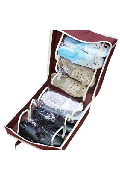 Go İthalat Shoe Tote Ayakkabı Saklama Ve Taşıma Çantası (bordo)