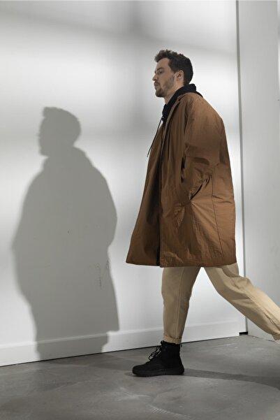 GIESTO Erkek Kahverengi Traveller Trençkot