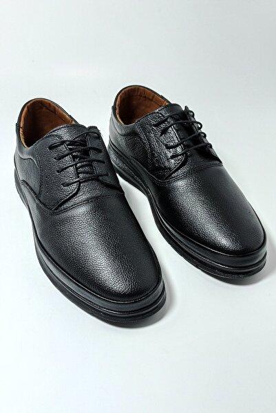 Master Erkek Siyah Kışlık Hakiki Deri Comfort Ayakkabı