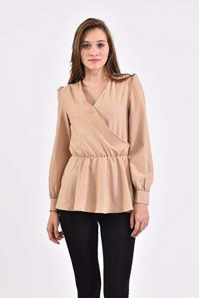 İroni Kadın Kruvaze Bluz