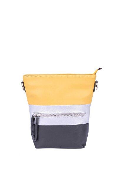 Jacquline Kadın Sarı Çapraz Askılı Çanta Im320
