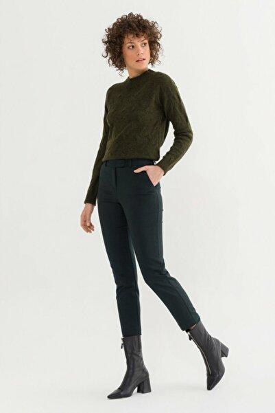 adL Kadın Yeşil Arkası Lastikli Pantolon 15332129010009