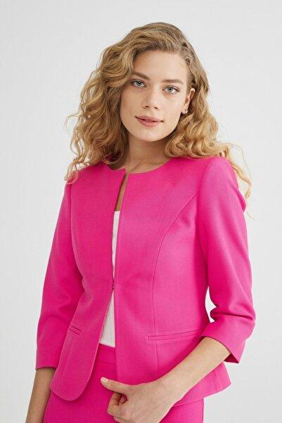 adL Kadın Fusya Agraflı Ceket
