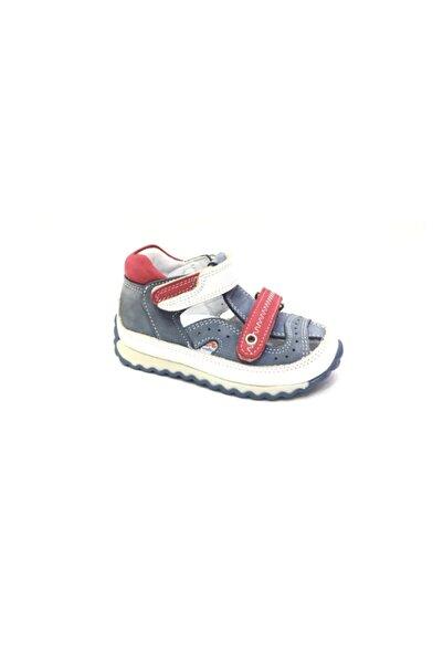 Perlina Erkek Çocuk Mavi Hakiki Deri Ortopedik Günlük Ayakkabı 3189-7