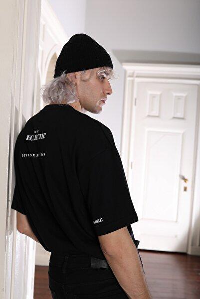 Eclectic Unisex Siyah Ecl Oversize Tshirt