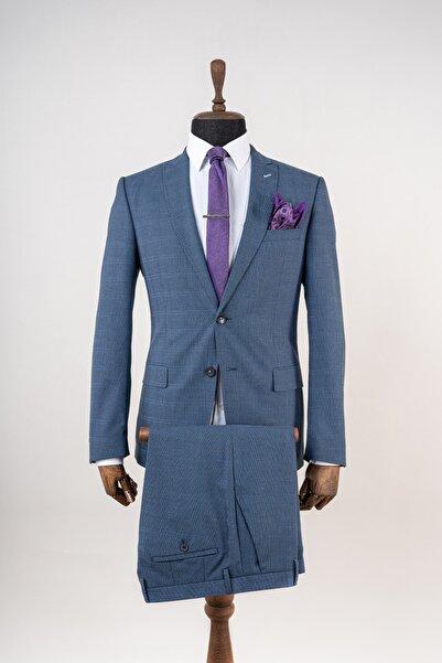 Sarar Erkek Interview Tedrick Lacivert Slim Fit Takım Elbise