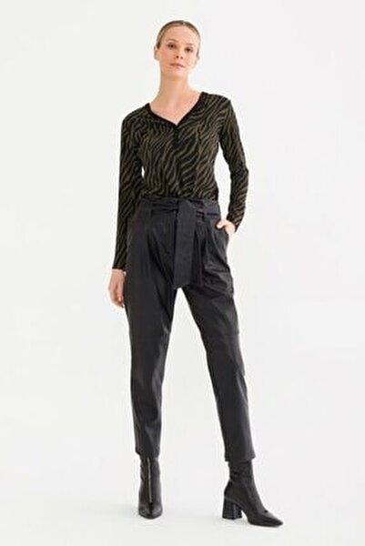 Kadın Siyah Yüksek Bel Pantolon 15337412000001