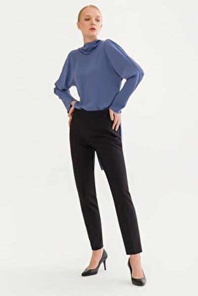 Kadın Siyah Fermuarlı Pantolon 15318418019001