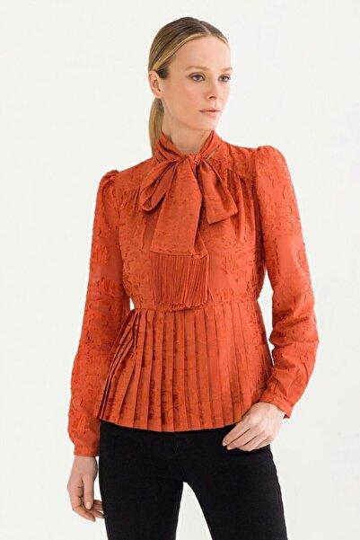 adL Kadın Tarçın Piliseli Bluz 115C1519000484