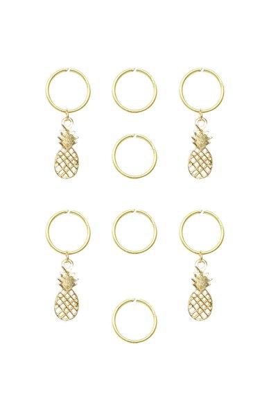Simplicty Pineapple Saç Küpesi