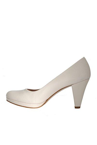 Beta Shoes Kadın Beyaz Klasik Topuklu Ayakkabı
