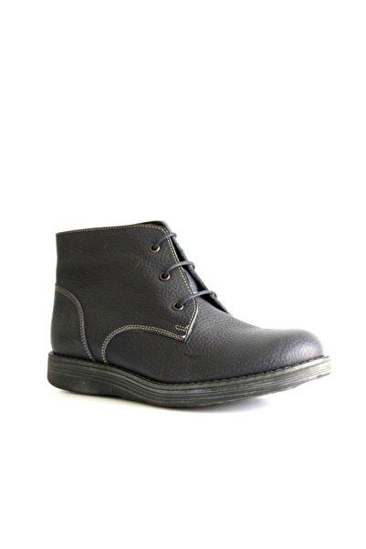 Beta Shoes Bot Hakiki Deri Kadın Lacivert