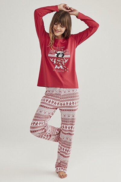 Penti Kadın Renkli Ugly Sweather Pijama Takımı