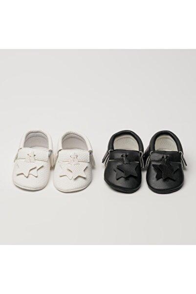 Hellobox Unisex Bebek Siyah Makosen Ayakkabı
