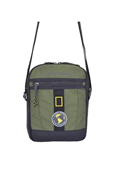 NATIONAL GEOGRAPHIC Unisex Yeşil Postacı Askılı Çanta 25x19