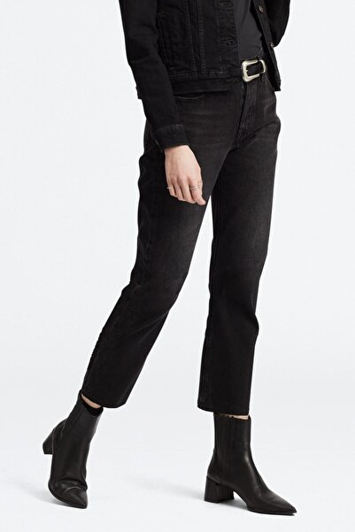 Levi's Kadın Siyah Crop Yüksek Bel Jean
