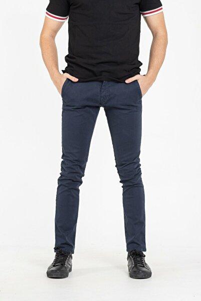 Guess Erkek  Lacivert Skinny Pamuklu Chino Pantolon