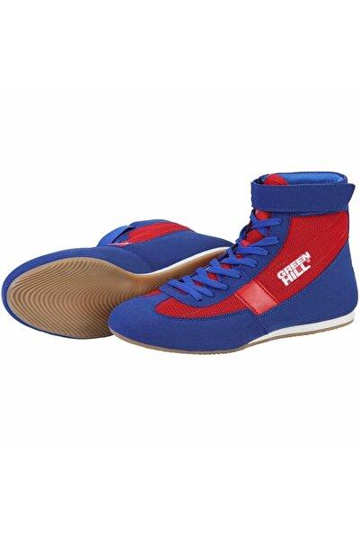Green Hill Unisex Mavi Kırmızı Profesyonel Boks Ve Güreş Ayakkabısı