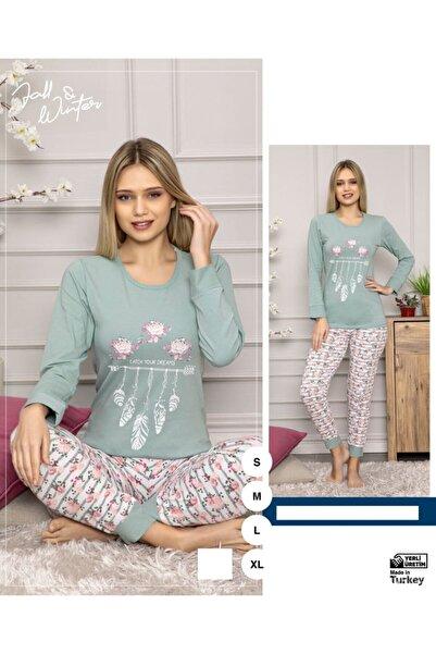 Sude Kadın Yeşil Pijama Takımı