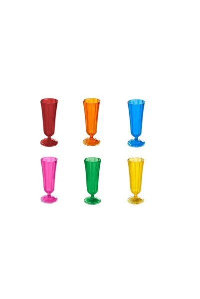 Porland Morocco 6 Renk 6'lı Flüt Bardak