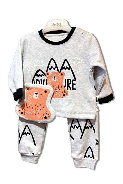Wogi Unisex Bebek Gri Sweat Set Üçlü Takım