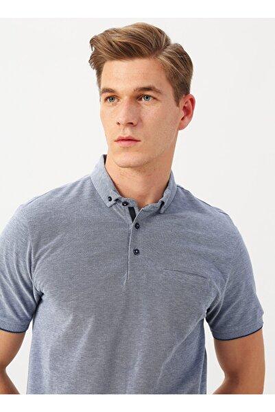 Cotton Bar Erkek İndigo Polo Yaka T-shirt