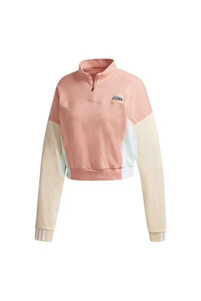 Adidas Originals Kadın Pembe Cropped Sweater Sweatshirt Ge1271-k