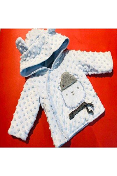 Bibaby Erkek Bebek Mavi Desenli Trençkot