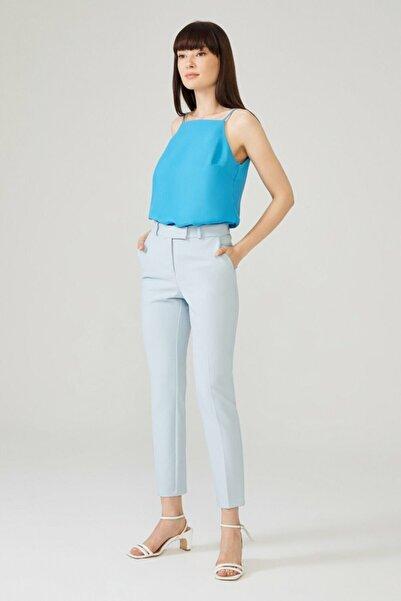 adL Kadın Mavi Arkası Lastikli Pantolon 15332129011003