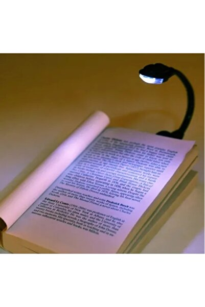 Interview Kitap Okuma Işığı Led Booklight Kıskaçlı Pilli Model