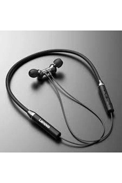LENOVO Siyah He05 Bluetooth 5.0 Kablosuz Stereo Spor Manyetik Kulaklik Su Geçirmez Kulaklik Lenovo6478