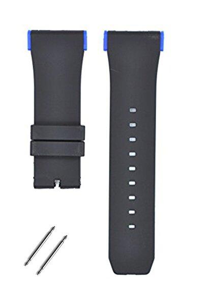 Puma Pu103461020 Saat Uyumlu Mavi Renk Aparatlı Siyah Renk Silikon Saat Kordonu