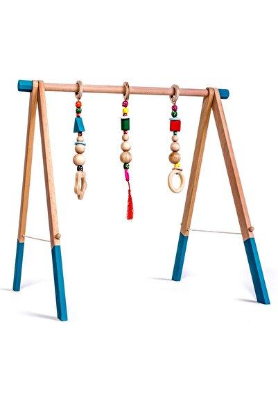 İngodi Ce Belgeli Ahşap Bebek Oyuncak Baby Gym Ahşap Bebek Oyun Halısı Oyuncağı