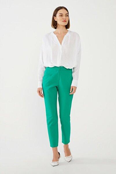 adL Kadın Yeşil Dar Paça Pantolon 15338438000009