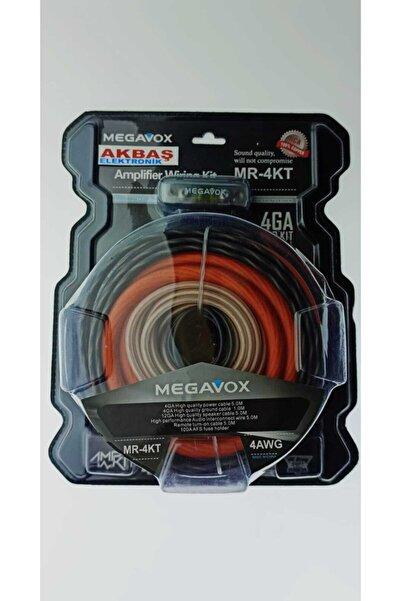 megavox - Mr-4kt 4ga Kalın -bakır Oranı Yuksek-kaliteli Prof Set Kablosu