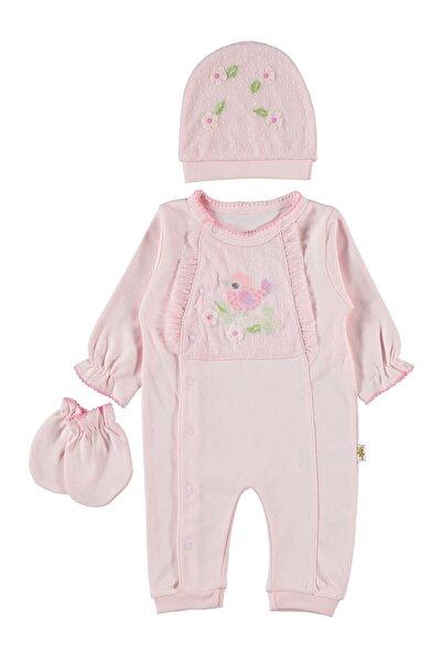 Minidamla Kız Bebek Pembe Tulum Takım