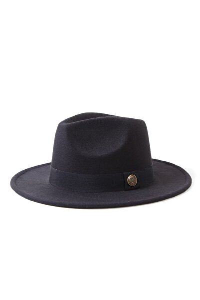 FELLMENS 1013-1 Aksesuar Detaylı Siyah Fötr Kadın Şapka